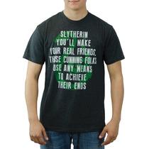 Harry Potter Slytherin Carvão Vegetal T-shirt Tamanhos Novo