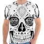 Camiseta Camisa Caveira Mexicana Masculina E Feminina