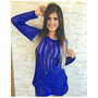 Blusa Comprida Linha Trico Crochê Comprida Princesinha