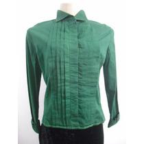 Blusa Tipo Camisete Plissada Verde Tam M Usado Bom Estado
