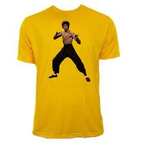 Camiseta Amarela Adulto Bruce Lee 04