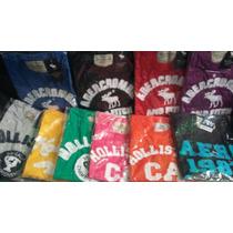 Kit C/05 Camisetas Hollister / Abercrombie / Aeropostale