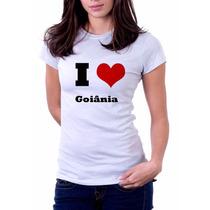 Camiseta I Love Goiânia - 100% Algodão