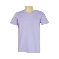 Camiseta Básica Masculina Tommy Hilfiger Várias Cores Gola V