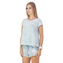 Blusa Jeans Lança Perfume, Renda Gripe Ref: 01bl006200