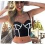 Cropped 3d Moda Blogueiras Roupas Femininas Barato 2016