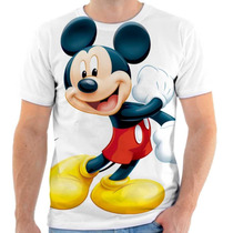 Camiseta Mickey Disney Estampada, Masculina E Feminina