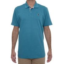 Camiseta Masculina Oakley Polo Essential Square Turquesa
