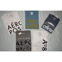 Camisas Kit De 5 Camisetas Aéropostale Original Hollister