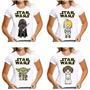 Camisa Feminina Baby Look Darth Vader Star Wars Luke Leia R2