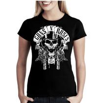 Camiseta Baby Look Feminina Bandas Séries Guns N Roses