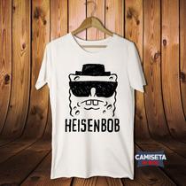 Camiseta Masculina Heisenbob Breaking Bad Bob Esponja Série