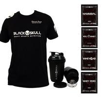 Camiseta + Coq. + Amostra Grátis - Black Skull