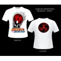 Camiseta Hatake Kakashi Anime Naruto Camisa Frente E Verso