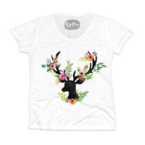 T-shirt - Camiseta - Camisa Flowery Deer
