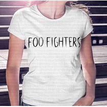 Camiseta Mais Barata Do Ml Feminina Banda Foo Fighters