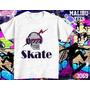 Skate Camisetas E Baby Look Skate Caveira Óculos Raio Sk8