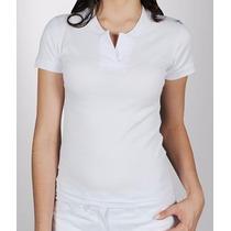Camiseta Feminina Branca Canelada Gola Padre