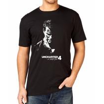 Camiseta Uncharted 4 Ps4 Jogo Game Exclusiva 100 % Algodão