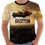 Camisa Camiseta Baby Look Regata Led Zeppelin Reborn Color