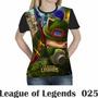Camiseta Blusa Games League Of Legends Feminina Lol 025