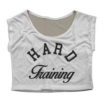 Top Cropped Mini Blusa Fitness Academia Hard Training