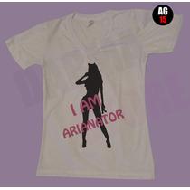 Camiseta Ariana Grande Brasil 2015 - Compre 3 Leve 4