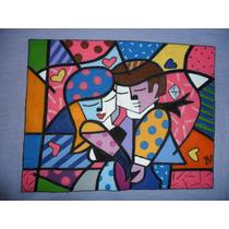 Camiseta Feminina, Ref. 400,100% Algodão, Pintada À Mão