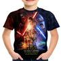 Camiseta Infantil Filme Star Wars Vii Md2