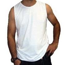Camiseta Regata Machão Branca 100% Algodão-fio 30.1