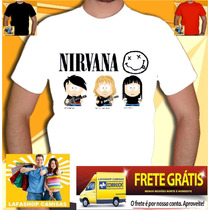 Camisa Nirvana South Park - Camiseta Metallica Ramones Acdc