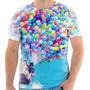 Camiseta - Camisa Desenho Balão Balões Criança