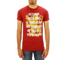 Harry Potter Red Mensagem Gryffindor T-shirt Tamanhos Novo X