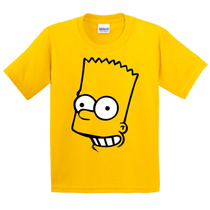 Camiseta Infantil Bart Simpsons Face Camisas The Simpsons