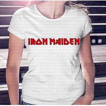 Frete Barato Camiseta Feminina Banda Iron Maiden