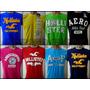 Camisetas Hollister Bordada 10 Peças Anuncio Original
