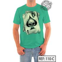 Poker Camiseta Ref:110 Meia Malha Pentiada 100% Algodão