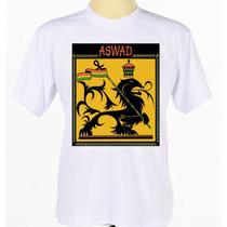 Camisa Camiseta Personalizada Banda Reggae Aswad Manga Curta