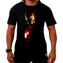 Camiseta Homem De Ferro Iron Man Vingadores Tony Stark