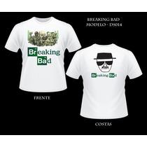 Camiseta Heisenberg Breaking Bad Seriado Camisa Frente Verso