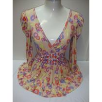 Ref 55-blusa Floral Maria Poa