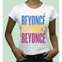 Camisa Camiseta Personalizada Para Fã Cantora Beyonce Plt