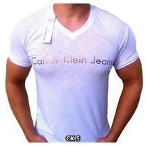 Camisas Ck Camisetas Calvin Klein Gola V ( Compre 4 Leve 5 )