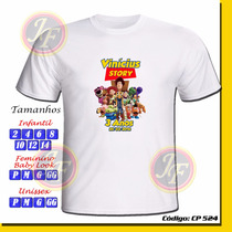Camiseta Camisa Infantil Personalizada Toy Story