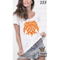 Camiseta T-shirt Chains Fashion Feminino Blusa Baby Look