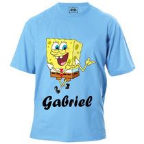 Camiseta Infantil Do Bob Esponja Com Nome