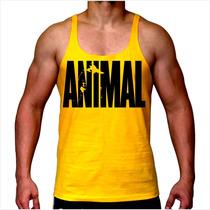 Camiseta Regata Animal Academia Mma Musculação Super Cavada