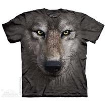Camisa 3d Wolf Face The Mountain Original