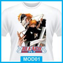 Camiseta Bleach, Ichigo Kurosaki, Hollow, Rukia, Anime, Tv