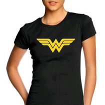Camiseta Feminina Baby Look Mulher Maravilha 100% Algodão